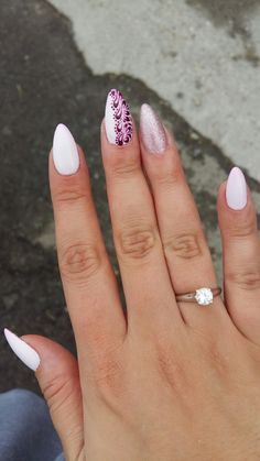 My august nails. #pink #nails #elegant