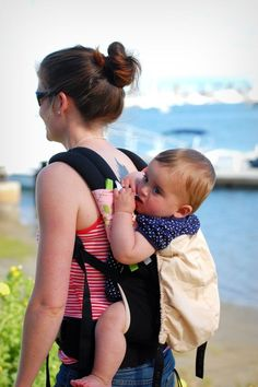 Sucking pads (or drool pads, teething pads, chew pads) for baby carriers like the Ergo, Beco, Boba, and more.   Love!