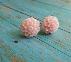 Beautiful Bloom Flower Post Earrings Large by Stephsjewels4ella, $8.00