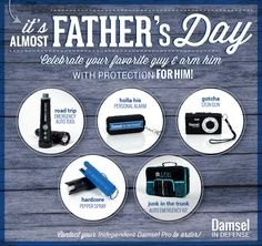 Have you already taken care of the Dad's in YOUR life? Safety is *Important* for the men in your life too!!! Order NOW so you can get your gifts in time ~ https://www.mydamselpro.net/ALPHAONEDEFENSE/content/personalprotection.aspx