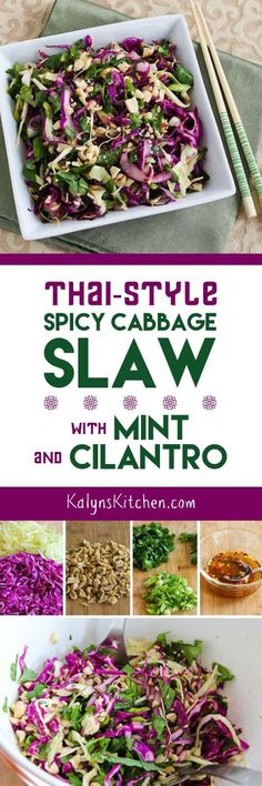 flavors, and this Thai-Style Spicy Cabbage Slaw with Mint and Cilantro ...