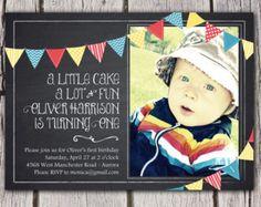 Primera invitación del cumpleaños del por LemonadeDesignStudio