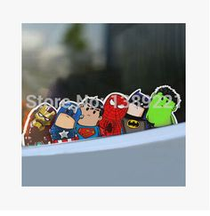 1 pieces of crooked neck car Avengers sticker waterproof sunscreen without leaving any residue 25*6cm+ free shipping