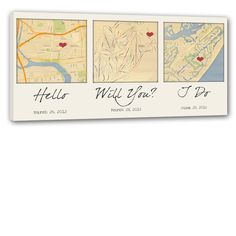 Map the important places you said Hello, Will You and I Do!