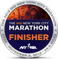 New York City Marathon Finisher 2013