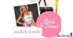 Toimi NYT, sillä osallistumisaikaa on vain MA 11.8. klo 20 asti! Voittajalle 4-osainen vaate- ja asustepaketti, johon kuuluu laukku (29,95€), mekko (29,95€), t-paita tai toppi (19,95€) ja yksi yllätystuote (29,95€). Ted Baker, Back To School, Tote Bag, Bags, Fashion, Handbags, Moda, Fashion Styles, Totes