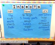 A Spoonful of Learning: Insects! Ant Crafts, Insect Crafts, Literacy Activities, Teaching Resources, Teen Numbers, Teaching Kindergarten, Preschool, Word Board, How To Make Paint
