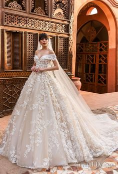 crystal design 2018 off the shoulder sweetheart neckline full embellishment princess ball gown wedding dress royal train (magenta) mv -- Crystal Design 2018 Wedding Dresses #BrideDresses