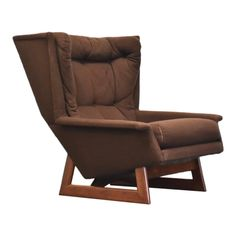 Adrian Pearsall Brown Walnut Lounge Chair | Chairish Adrian Pearsall, Lounge Chair Design, Vintage Furniture, Recliner, Mid-century Modern, Mid Century, Brown, Home Decor, Chair