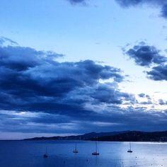 Rainy Day @ Palamós! :frog::umbrella: #palamos #palamós #palamosonline #sea #summer #blue #rain #sunset #instamood