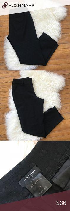 "Ann Taylor Black Polka Dot Crop Trouser Pants Ann Taylor Black Polka Dot Crop Trouser Pants. EUC. Signature style. Size 0. 15"" waist, 8.5"" rise, 26.5"" inseam Ann Taylor Factory Pants Ankle & Cropped"