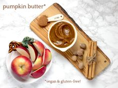 Kids of all ages will be excited about this decadent caramel apple bars recipe. This declisious bar is great for any occassion. Caramel Apple Bars, Caramel Apples, Pumpkin Butter, Apple Butter, Vegan Gluten Free Desserts, Vegan Recipes, Apple Benefits, Snacks Saludables, Wheat Free Recipes