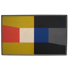 """Frederick Hammersley """"One Pair,"""" Oil on canvas Abstract Painters, Abstract Art, Modern Art, Contemporary Art, Hard Edge Painting, Frank Stella, Diy Wall Art, Abstract Expressionism, Geometric Shapes"""