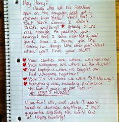 Best Break-Up Letter Ever: Ask Kelsi Where Your Stuff Is