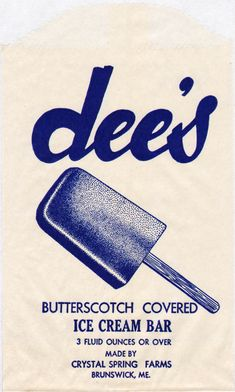 ice cream wrappers, via letterology