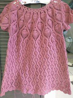 Crochet Vest Pattern, Crotchet Patterns, Tunic Pattern, Crochet Cardigan, Crochet Top, Crochet World, Knit Shirt, Blouse Dress, Crochet Fashion