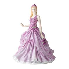 February Violet Flower of the Month Royal Doulton Figurine HN 5501