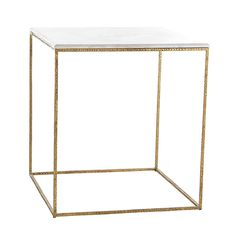 Wisteria - Furniture - Shop by Category - Accent Tables & Pedestals - Gold Leaf Collection - Side Table Thumbnail 2