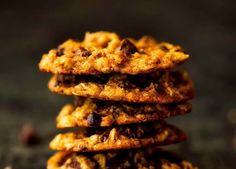 Easy Healthy Recipes, Sweet Recipes, Healthy Food, Vegan Recipes, Protein Cookies, Healthy Cookies, Gluten Free Oats, Breakfast On The Go, Breakfast Cookies