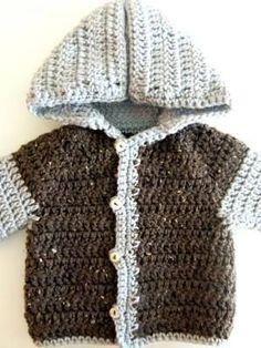 Easy Crochet Baby Sweater Free Crochet Pattern
