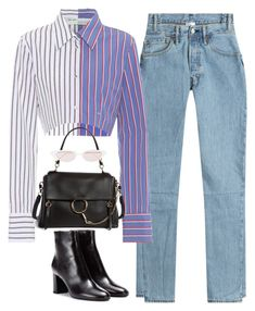 """""""sanctify"""" by ohsnapitzblanca on Polyvore featuring Vetements, Off-White, Yves Saint Laurent, Chloé, Illesteva and StreetStyle"""