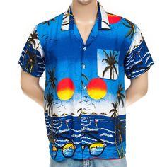 58228c3e5 #VintageHawaiianShirt #MensHawaiianShirt XL Hawaii Tropical Sunglasses  Bright Surfers Beach Aloha #Hawaii #SomeLikeItUsed