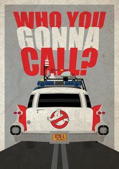 Poster Decorativo de los Ghostbusters