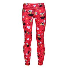 Bring A Smile To Everyone's Face With Tikiboo's Elmo Kid's Leggings, Part Of Our Sesame Street Collection. Shop The Collection Online Today. Red Leggings, Sports Leggings, Compression Vest, Mens Measurements, Sports Activities, Small Waist, Skin Tight, Elmo, Cute Designs
