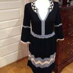 Milly Sweater Dress! Worn once! In excellent condition!  The colors in it are black, pink, grey and silver.  From smoke free home! Milly Dresses