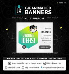 56 best GIF BANNERS AD images on Pinterest | Banner template ...