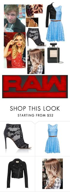 """Leah and Dean backstage at RAW bumping into an old rival"" by thefuturemrsambrose ❤ liked on Polyvore featuring Valentino, True Decadence, River Island, Chanel and WWE"