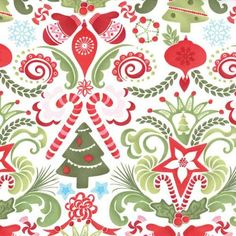 Beautiful fabric- would make nice jam pot covers, or scented ornaments.