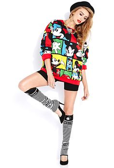 Standout Mickey Mouse Leg Warmers #Disney love this outfit!!