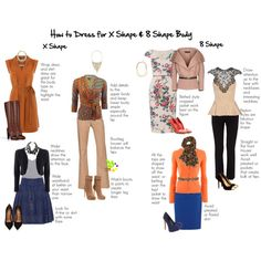 How to dress for X Shape and 8 Shape Body