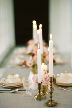 Along with loads of textural blooms, the bohemian table wouldn't be complete without a sea of candles. Photography: Elisa Bricker - elisabricker.com Read More: http://www.stylemepretty.com/2014/03/06/bridesmaids-tea-at-trump-winery/