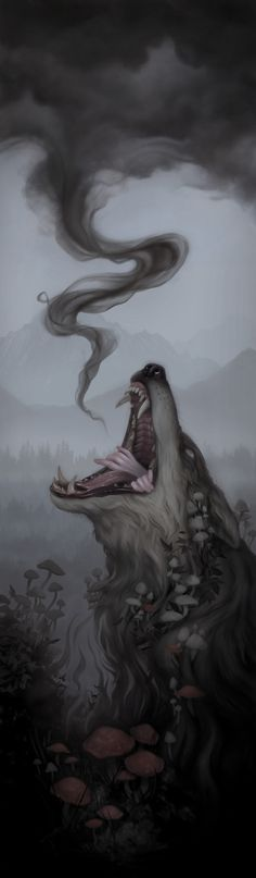 Consume by Miranda Meeks #digital #illustration #wolf