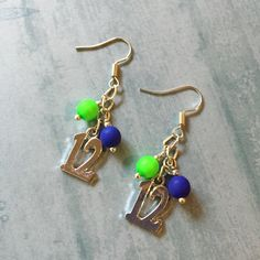 seahawks inspired earrings