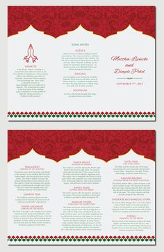 Downloadable Hindu Wedding Program  Hindu Weddings Wedding