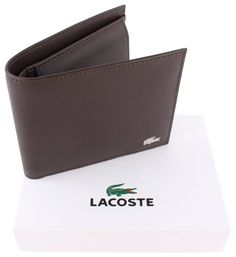 64bc3518a Lacoste Large Billfold and Coin Wallet - Dark Brown