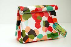 Mini Lunch Bag * Modern Dotties* von Fräulein Farbenfroh auf DaWanda.com