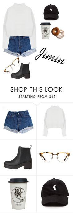 """Fall Date W/ Jimin"" by pastelsandflowers ❤ liked on Polyvore featuring Levi's, Dion Lee, Ace and Natural Life"