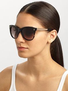 Jimmy Choo - Plastic & Metal Cat's-Eye Sunglasses - Saks.com