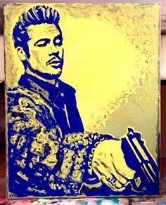 Bad Pitt Pop Art Painting by ThatsHighlyOffensive on Etsy https://www.etsy.com/listing/229495012/bad-pitt-pop-art-painting