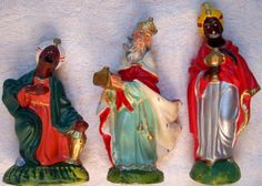 Vintage Christmas Nativity Three Kings ~ Woolworth's ~ Circa or I have this and so does my grandma Christmas Nativity Set, Old Time Christmas, 1950s Christmas, Nativity Sets, Christmas Figurines, Old Fashioned Christmas, Christmas Christmas, Vintage Christmas, Christmas Ornaments