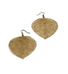 Filigree Leaf Earrings $40