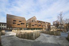 Centre de Loisirs maison du Val Caron - Courbevoie - Livré en 2013 - K Architecture #bariserf #architecture #bois #archidesignclubawards