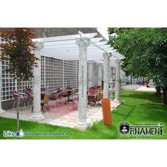 Coloana Ornamentala din beton in Stilul Grecesc Ionic Gazebo, Arch, Outdoor Structures, Garden, Houses, Greece, Kiosk, Longbow, Garten