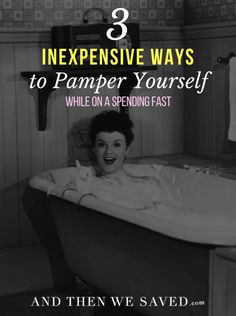 Taking care of yourself doesn't always mean spending lots of money at fancy spas. Use items from home with these inexpensive ways to pamper yourself.