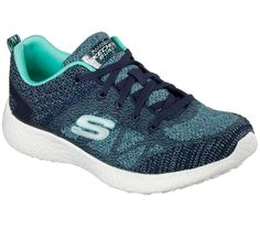 b9f2fb32e549 12433 NVAQ Navy Skechers Shoes Burst Cooled Memory Foam Women Sport Most  Comfort