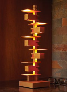 Mini Taliesin III Lamp- I would like an industrial pipe version with the open shelving for displaying action figures